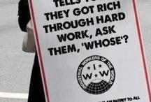 Kapitalismia vastaan / Suuryritykset ja rikkaimmat ihmiset omaavat suurimman osan maailman raha-varoista, kun samanaikaisesti maailmassa on yli 4 miljardia köyhää. Kapitalismi ei ole oikeudenmukaista. Kapitalismi ei ole sitä mitä me kansalaiset haluamme.