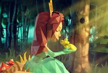 "LowPoly Fairytales / Series of fairytale illustrations I did in paper-lowpoly style. Project was done for Labelexpo Europe, an exhibition with new label and package printing technologies.   My job was to illustrate classic fairytales with a little technology twist, as the expo main phraze was ""Technology saves the day!"". I was responsible for concepting, 3D modeling, texturing, lightning and postproduction.    client: Labelexpo Europe agency: Tarsus   Hope you like it!"