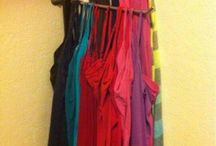 Store cloths in cupboard
