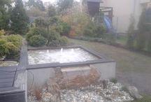 My gardens / Tablica jest o ogrodach, które projektuję i realizuję