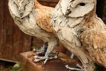 Skulptur lera och betong