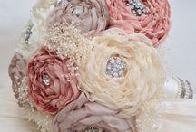 Букет из тканевых цветов