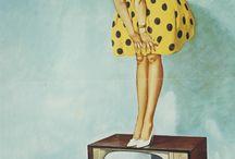 Vintage reklame moodboard