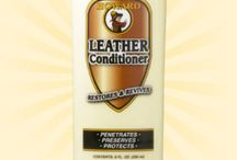 Leather Conditioner / A creamy conditioner that penetrates, preserves, and protects smooth leather. This unique blend of deep nourishing emollients and natural waxes revives dried-out leather back to its soft, natural condition without becoming greasy or sticky. Ideal for any smooth leather found on couches, shoes, purses, auto interiors, tack and saddles.