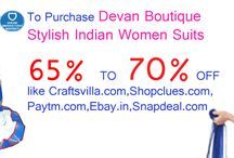 Devan Boutique / India's Largest Online Shopping Store for Women Ethnic and Western wear Suits and Capri