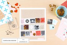 May 2015 Kits: Carolina Moon / Be unabashedly creative with May's kits, as timeless as your favorite song. / by Studio_Calico