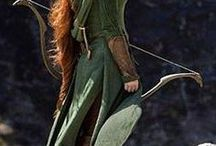 Research - Tauriel / Images and research for a wig inspired by Tauriel's hair
