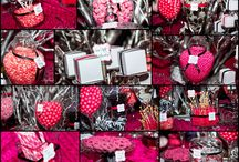 Pink black and white party ideas
