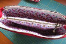 Small Bags & Pouches // Täschchen / by Kati Feines Stöffchen