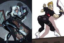 gender swap/flipping superheroes comics