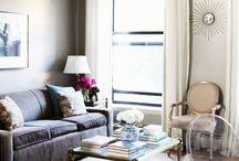 Greige dining living room
