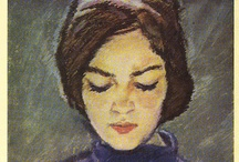 The Reading Woman / Photographs, illustrations and paintings of women and girls reading books