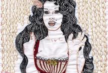 Jenny hart / Embroidery celebrities