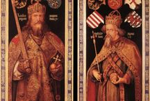 Charlemagne (742 +814) R. Lombards 774-814, R. Francs 768-814, Empereur d'Occident 800-814 / EMPEREUR D'OCCIDENT déc 800-janv 814 ROI DES FRANCS 9 oct 768-28 janv 814 ROI DES LOMBARDS 5 janv 774-28 janv 814 - Né 2 avril 742/47 ou 48, décès le 28 janv 814. Conjoints et enfants: HIMILTRUDE (Pépin v.770-811). DESIREE DE LOMBARDIE. HILDEGARDE DE VINTZGAU (Charles v. 772-811, Adelaïde ?-774, Rotrude v.775-810, Pépin d'Italie Roi 777-810, Louis 1° Roi 778-840, Lothaire 778-779, Berthe v. 779-823, Gisèle 781-ap. 814, Hildegarde 782-783). FASTRADE DE FRANCONIE. LUITGARDE D'ALEMANIE.