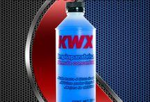 Productos para Mantenimiento / Los líquidos para Frenos KWX está, formulados especialmente para usarse en frenos hidráulicos, de disco tambor, mixto y en sistemas ABS. No dañan mangueras, ni gomas, no se evaporan, no son inflamables y no atacan cilindros ni tuberias.