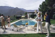 The Kaufmann Desert House in Palm Springs, California, designed by Richard Neutra in 1946 for businessman Edgar J. Kaufmann and now owned by Nelda Linsk. Helen
