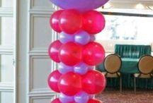 columna en globos