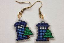 Cross stitch - earrings