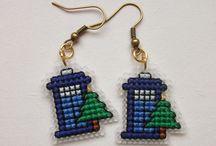 Cross stitch - earrings