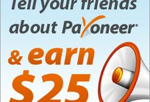 25$ /100 seconds / Refer your friends to Payoneer and  Earn $25 for each referral* Get $25 when you sign up at Payoneer http://share.payoneer-affiliates.com/a/clk/3z88JF   https://www.facebook.com/pages/Job-Online/477008072309961
