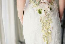 wedding + bridesmaid dress