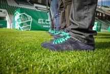 Gente del Elche C.F. sneakers AllYourColors exclusivas / La gente que trabaja para el Elche C.F se probó sus nuevas sneakers AllYourColors exclusivas en una fantástica sesión de fotos.