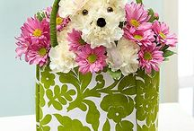 bukiet z kwiatow ze zwierzat...