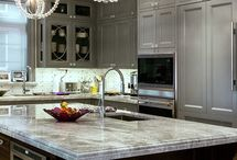 Kitchen Remodel, what to do? / Kitchen walls, cabinets, floors, decor ideas / by Amy Kate
