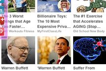 News Websites / This is a board with examples of responsive layouts for news articles.
