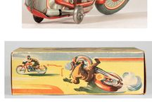 Tin Toys Motorcyklar