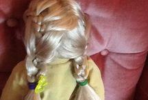 Ag doll hair style / A double twist braid