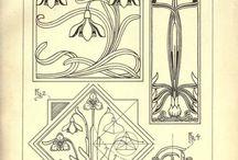 Jugendstil  ornamente u. Pattern