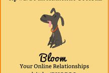 Bloom Your Online Relationships #BYOR30 / 30-Day Challenge to deepen the connections we've already got online. (NOT to build something bigger.) Illustrations courtesy of Leyton Parker: leytonpark.tumblr.com