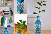 bottle/glass deco idea