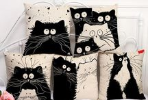 Cat Cushion Covers / Find inspiration for your home decoration with our affordable quality cotton Cat print cushion covers. Make your home Cat home.