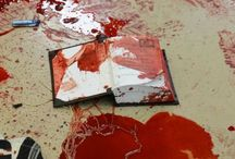 ( blood ) / title says it. trigger warning, there's blood everywhere.