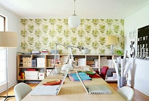 home office design / by Kate McGough-Arenz