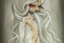 OHMYDOLLS! ART / mixed media on wood panel/canvas