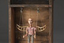 caixas de marionetas