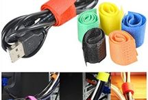 "Set of 6 Multipurpose ""HOKIPO"" Brand Colorful Cable Wire Ties Curtain Marker Straps Belts Holders"