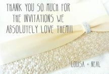 byjo client testimonials / Some of our clients who have been delighted with their wedding invitations and stationery.