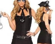 Sexy Costume / This costume is ideal for Halloween, also you can use it year round for role playing, cos playing, fun dress up, or for those moments when you need to add a little bit of authority to your life.