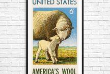 USA Stamp Art