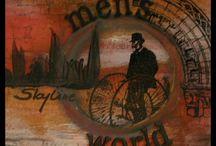 katzelkraft / Samples with Rubber Stamps by katzelkraft  http://www.katzelkraft.fr/ - created by Daniela Rogall