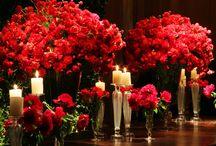 Decoração de Casamento em Vermelho / Fotos de detalhes, decorações e inspirações para casamento na cor vermelha.