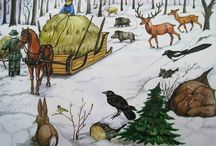zvířata v zimě