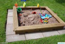trädgård-sandlåda
