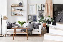 Haussmanien moderne / Modern look for Classic haussman Parisian style living room and kitchen
