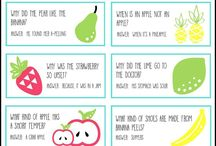 Lunchbox Notes / Printable lunchbox notes and lunch box note ideas for parents to put in their kids' lunchboxes.