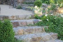 Terraced garden / Transforming a carved out rocky ditch into a delightful terraced flower bed